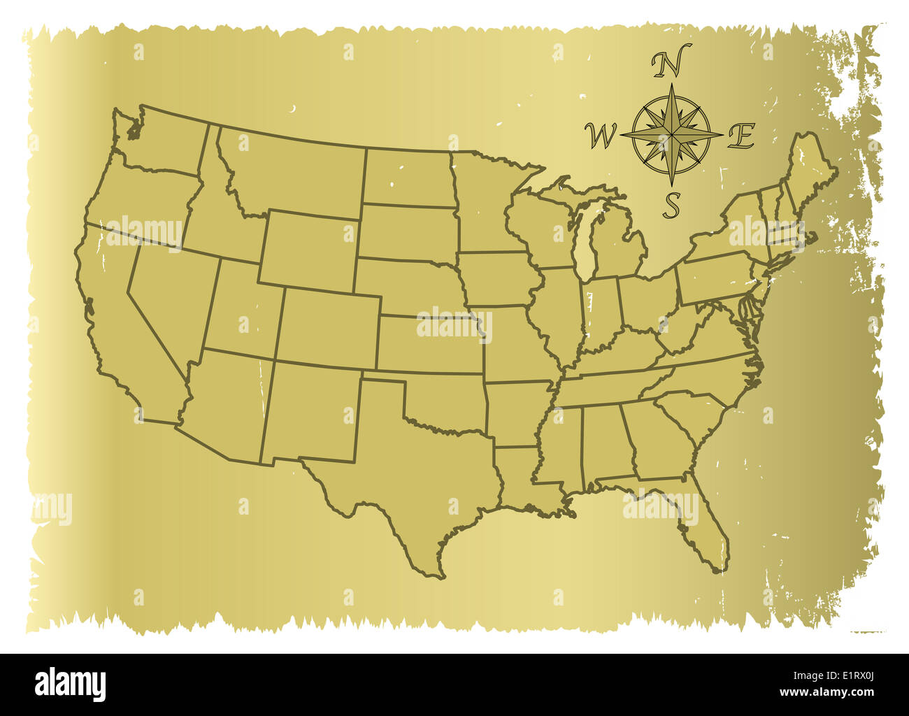 Geographical Map Of United States Stock Photos ...