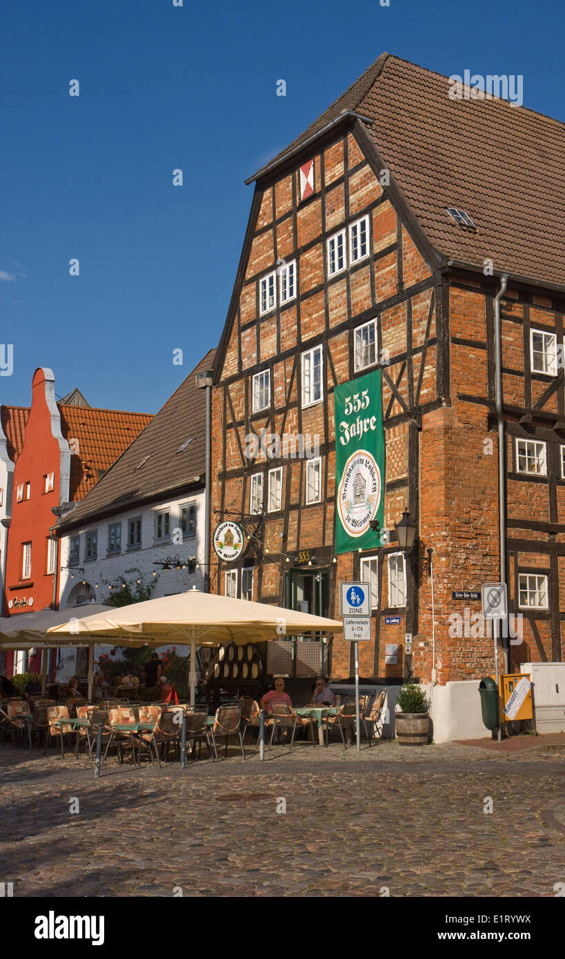Europe,Germany,Mecklenburg-Western Pomerania,Wismar,Brauhaus am Lohberg - Stock Image