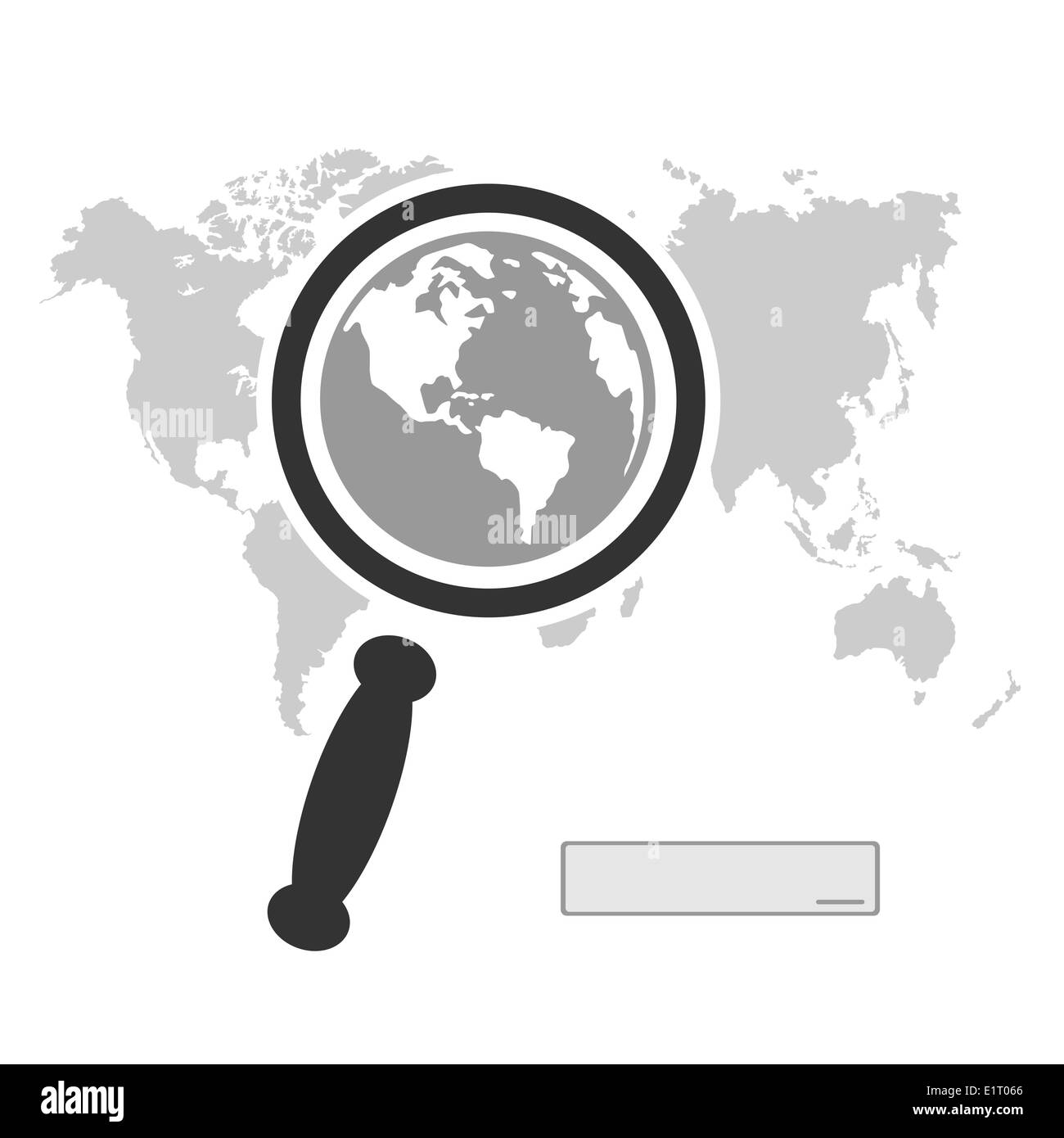 Search the entire planet - Stock Image