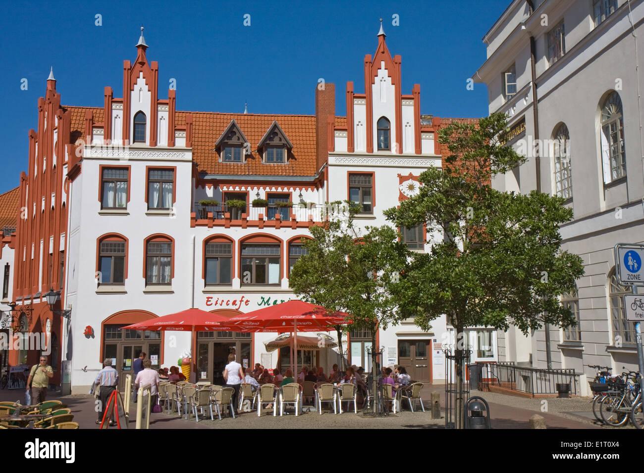 Europa, Deutschland, Mecklenburg-Vorpommern, Wismar, historisches Gebaeude in der Altstadt - Stock Image