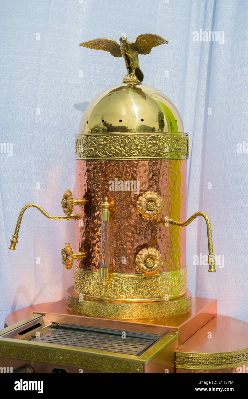 Ornate Brass Copper Espresso Cappuccino Machine