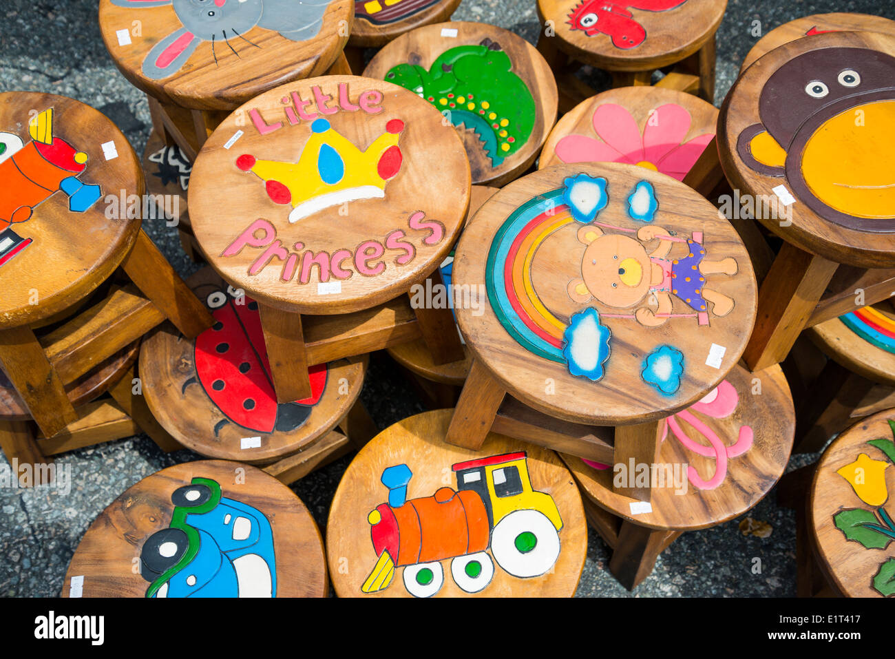Peachy Childrens Wooden Stool Stock Photos Childrens Wooden Stool Short Links Chair Design For Home Short Linksinfo