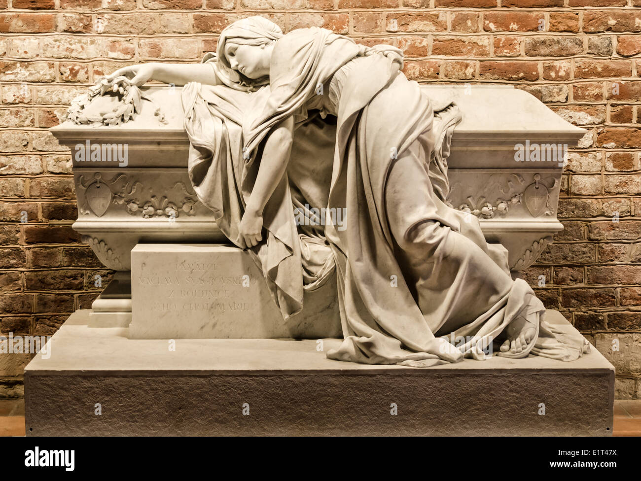 Sarcophagus of Vaclav Svagrovska in Prague (Convent of Saint Agnes of Bohemia) - Stock Image