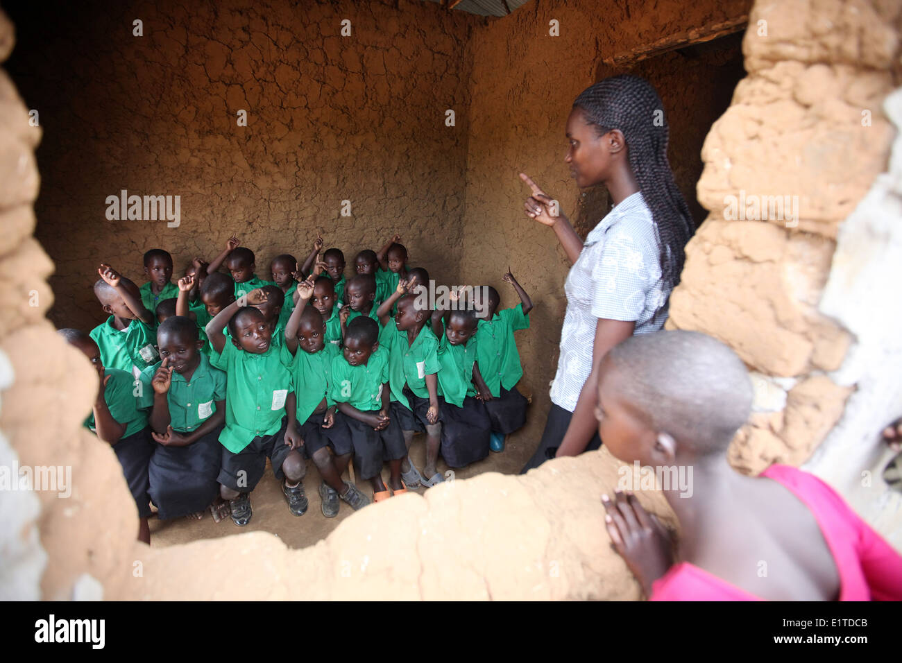 Children at a NGO funded school in the Nyagatare district of Rwanda - Stock Image