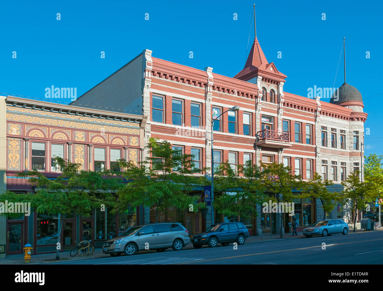 Montana, Missoula, Historic Downtown, Higgins Block, built late 19C - Stock Image