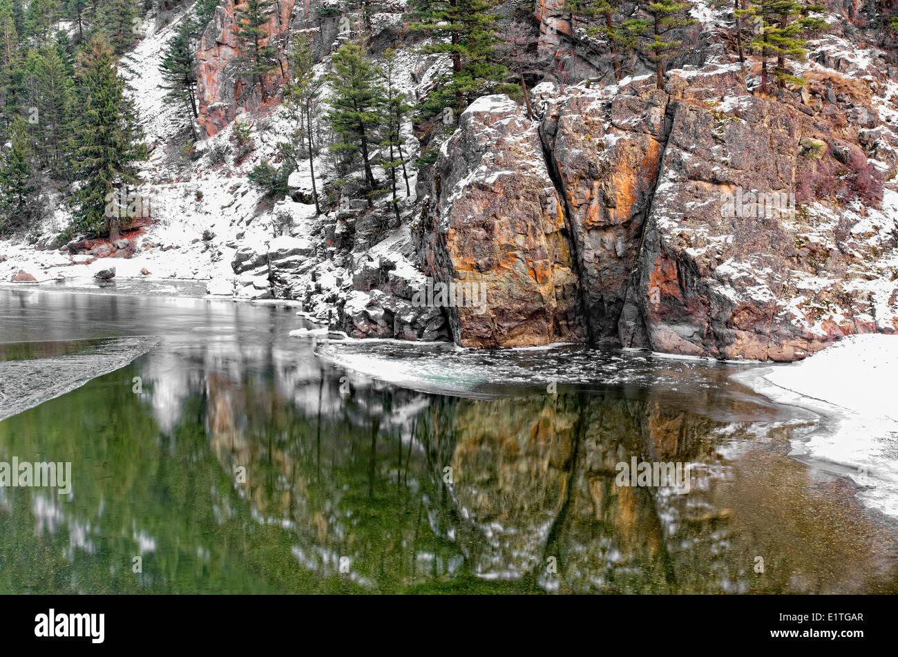 Similkameen River, Bromley Rock Provincial Park, British Columbia, Canada - Stock Image