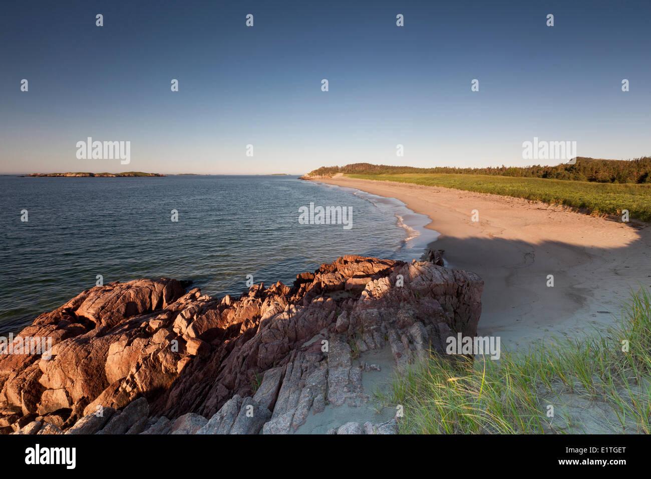Sandy beach in Sandbanks Provincial Park in Burgeo on the