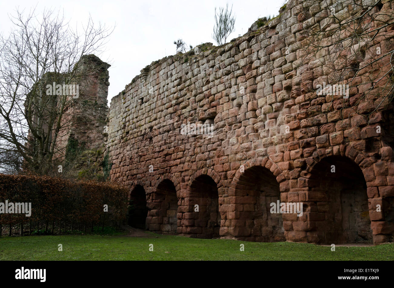 The remains of  Roslin Castle in Midlothian, Scotland. - Stock Image