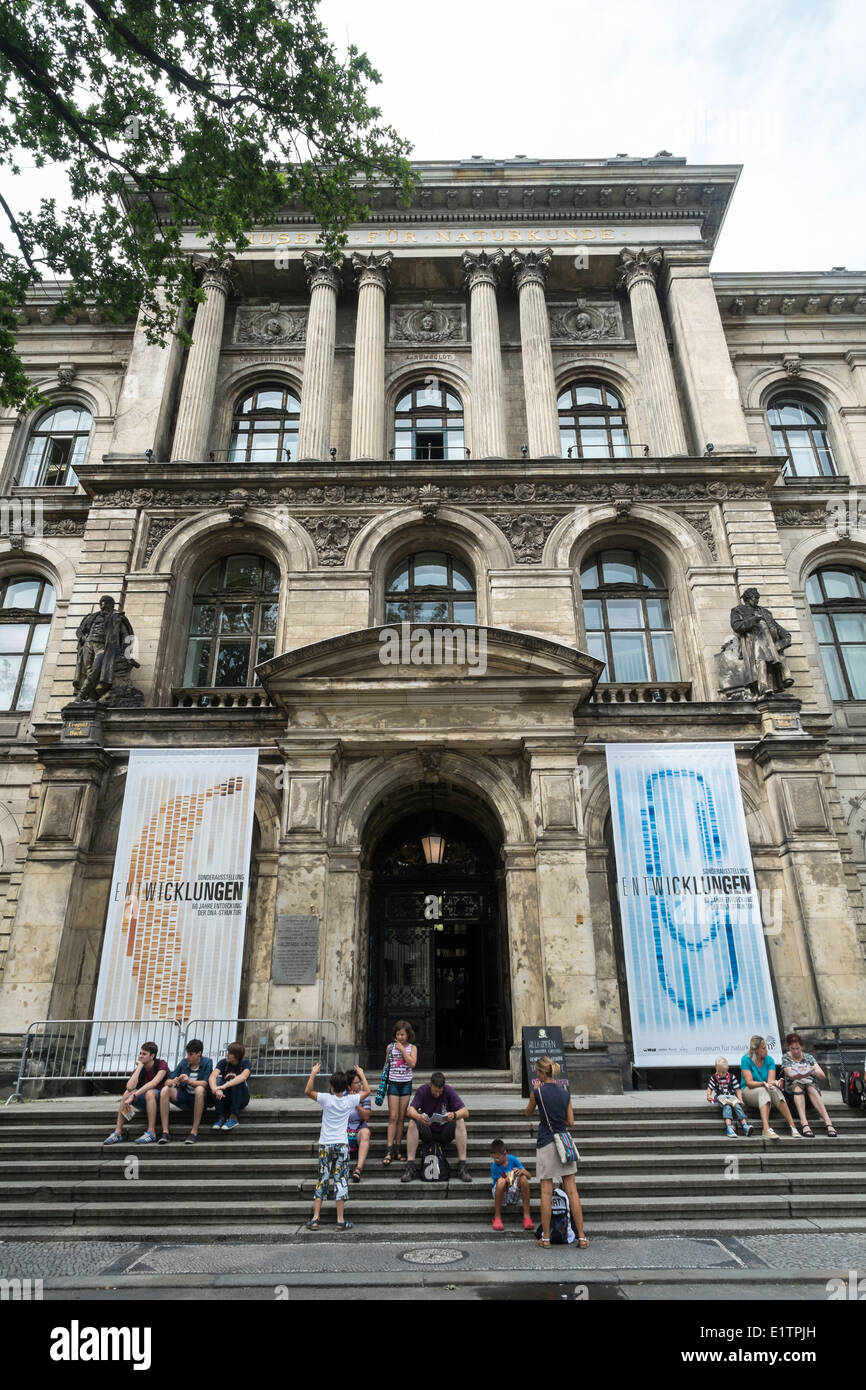 Exterior of Natural History Museum in Berlin Germany - Stock Image