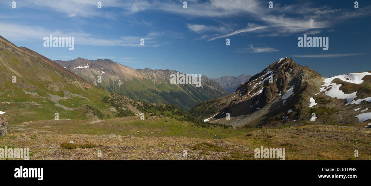 Coastal Transition Ranges, Pemberton, BC, Canada - Stock Image