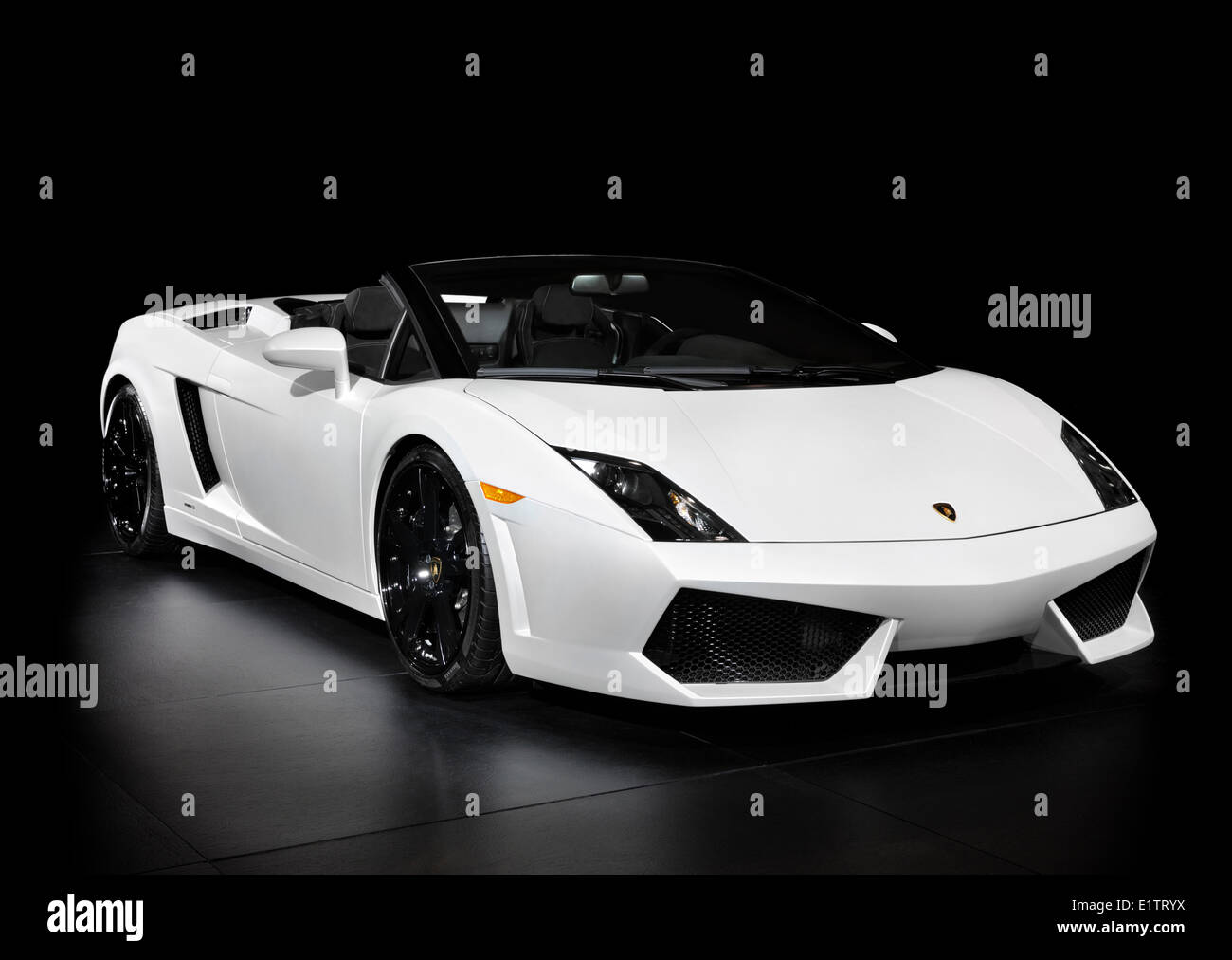 White Lamborghini Gallardo Lp560 4 Spyder Super Car Isolated On