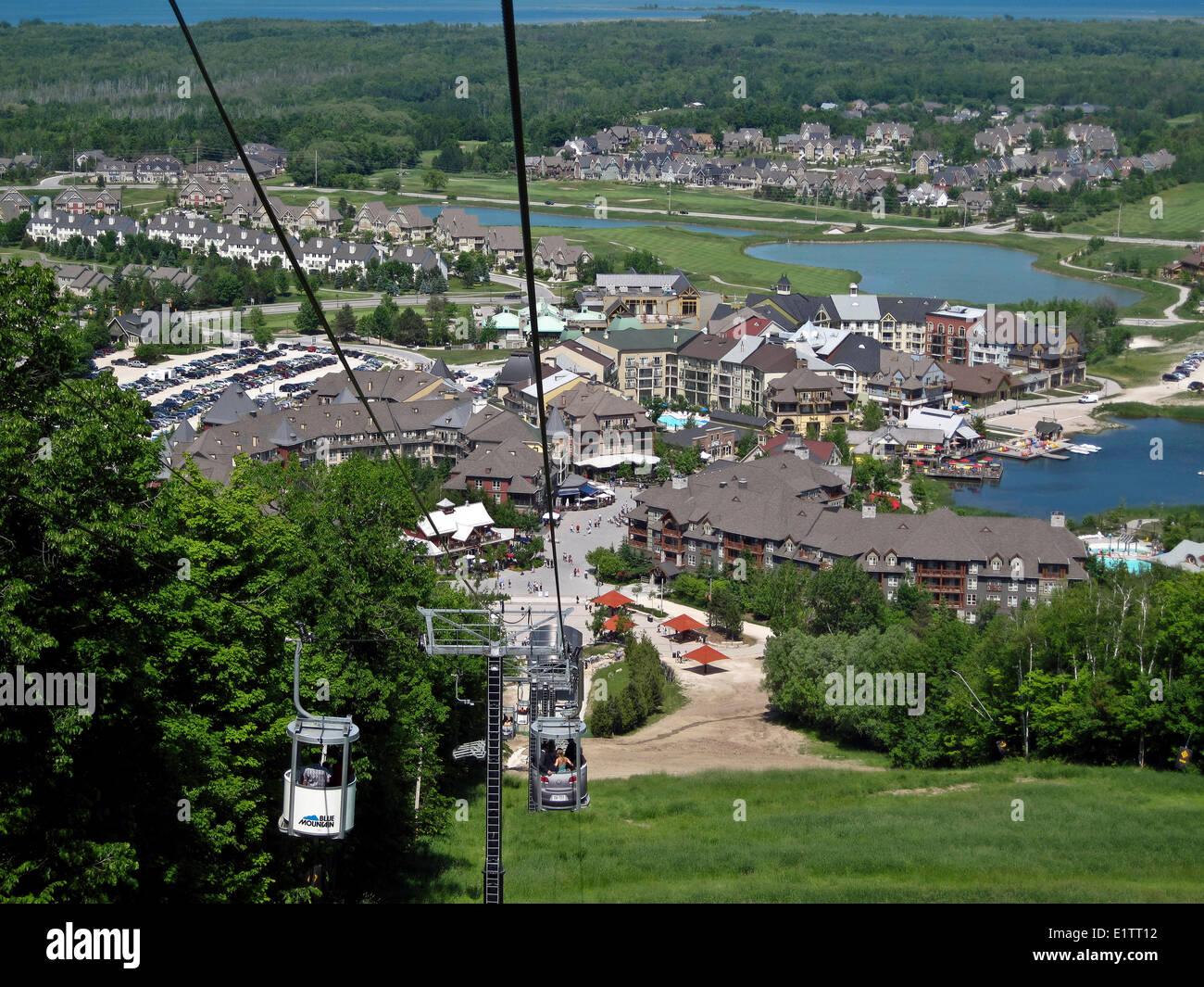 blue mountain ski resort in collingwood, ontario, canada stock photo
