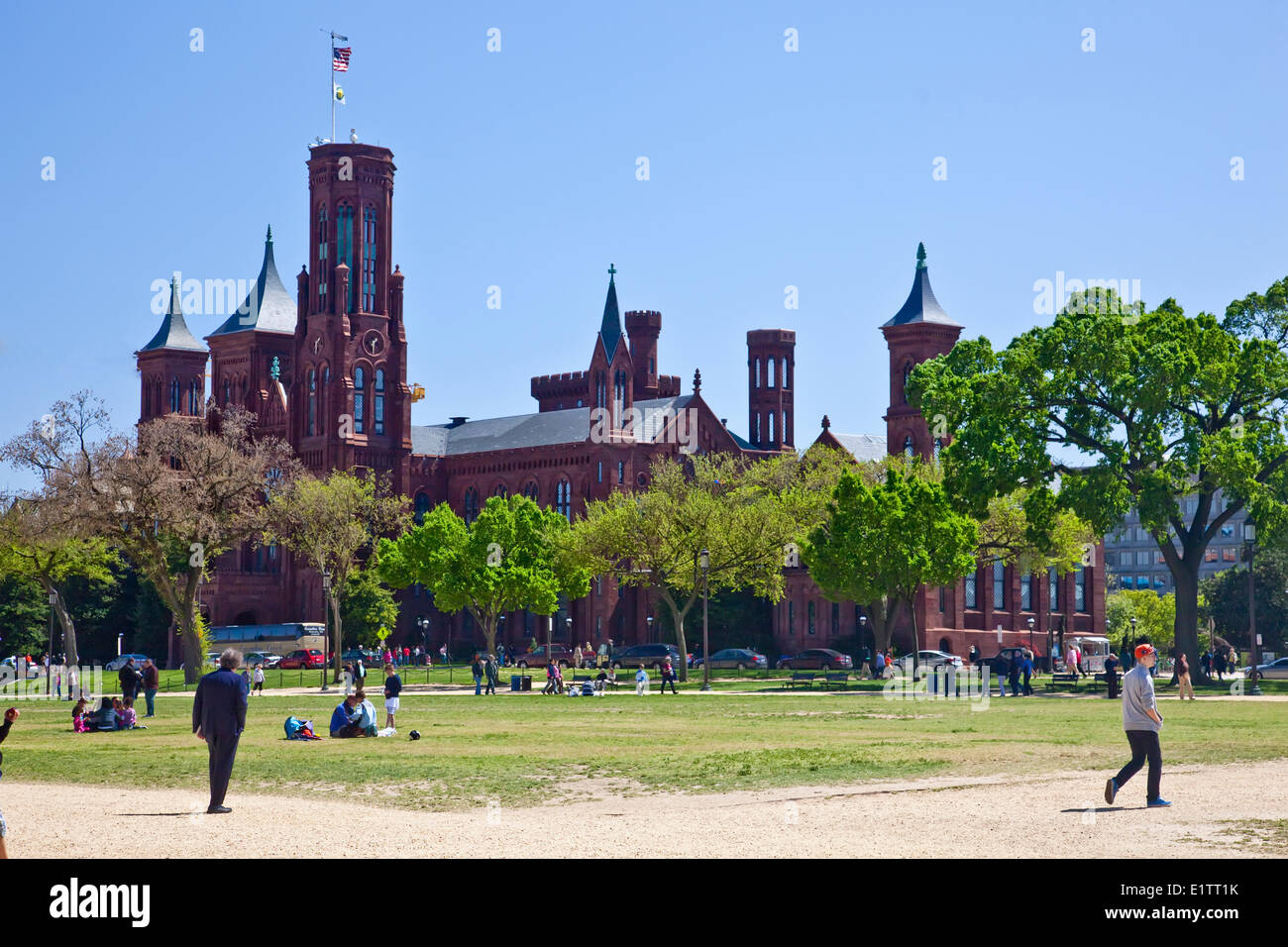 Smithonian Institution Castle at the Mall in Washington;D.C. USA, - Stock Image