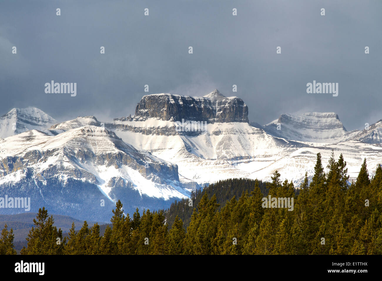 Ghost River Valley from Forest Trunk Road, Alberta, Canada - Stock Image
