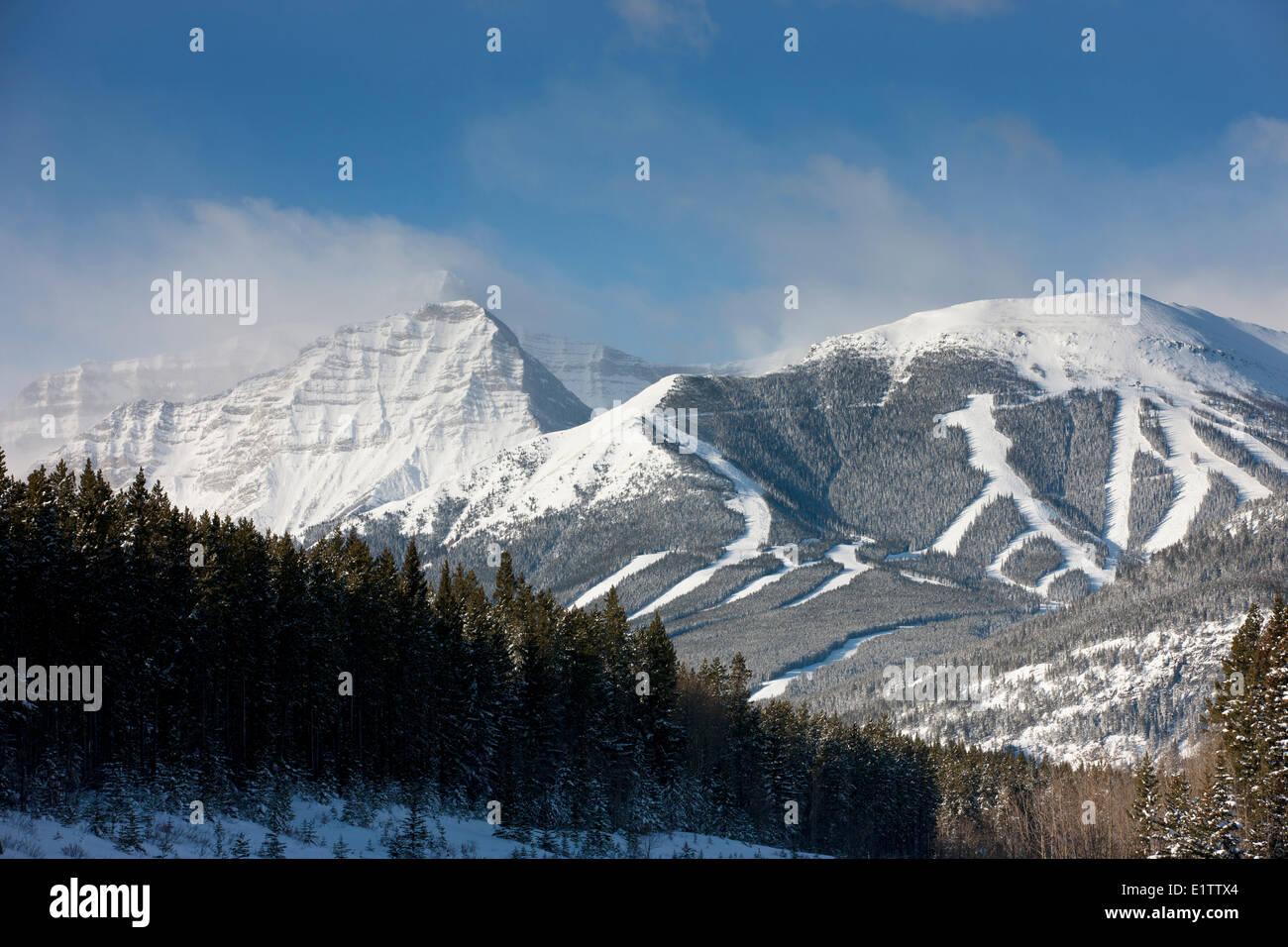Nakiska Ski Resort, Olympic Summit,  Centennial Ridge, Mount Allan, Kananaskis Provincial park, Alberta, Canada - Stock Image