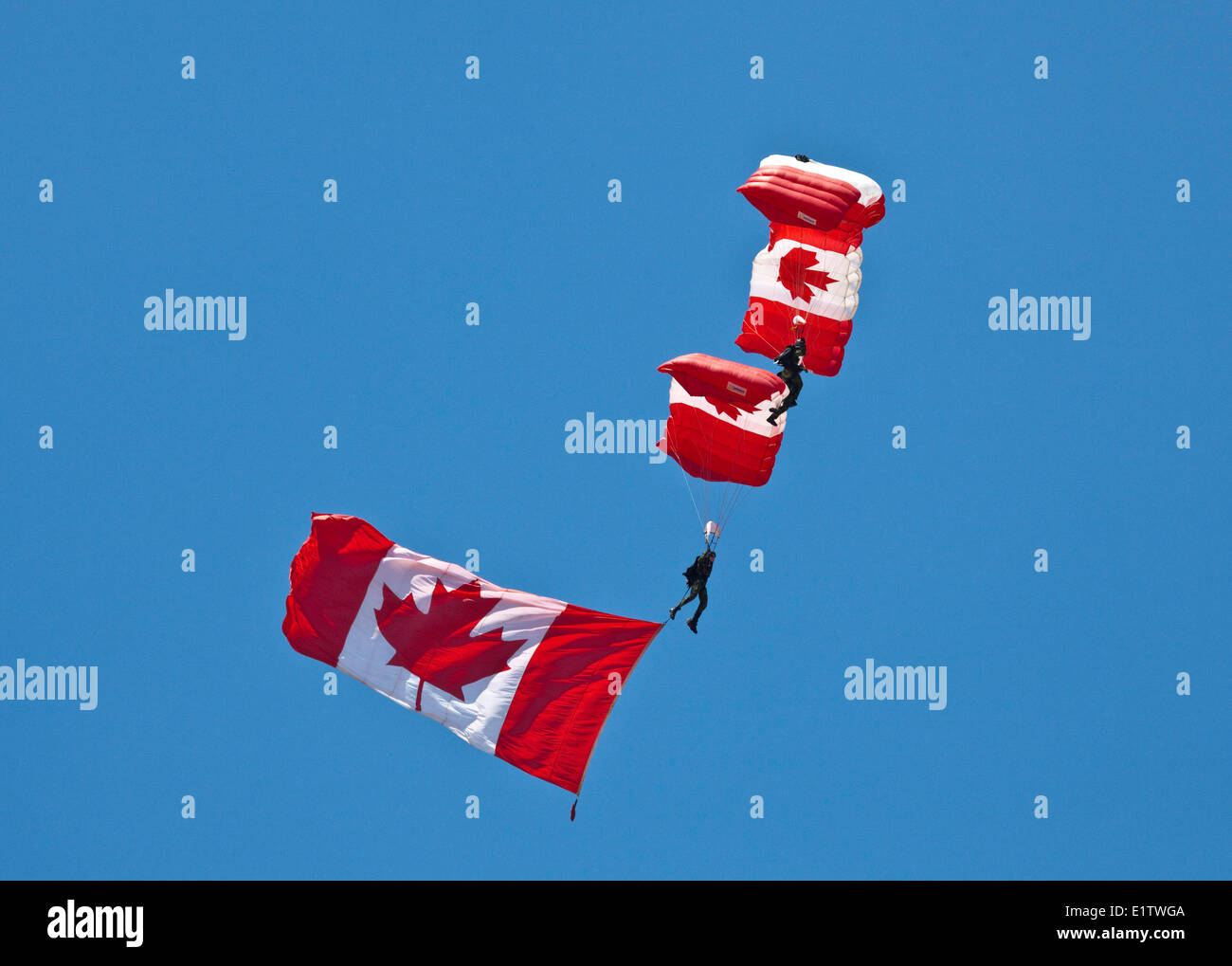 Canadian Forces Parachute Team, The SkyHawks;Forces canadiennes,les SkyHawks,The Skyhawks;Domonstartion Team;Canada;Trenton;Onta - Stock Image