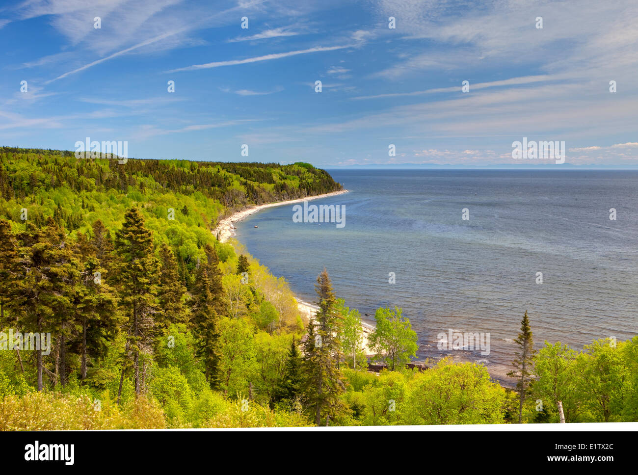 Northshore, St Lawrence, Cote Nord, Quebec, Canada - Stock Image