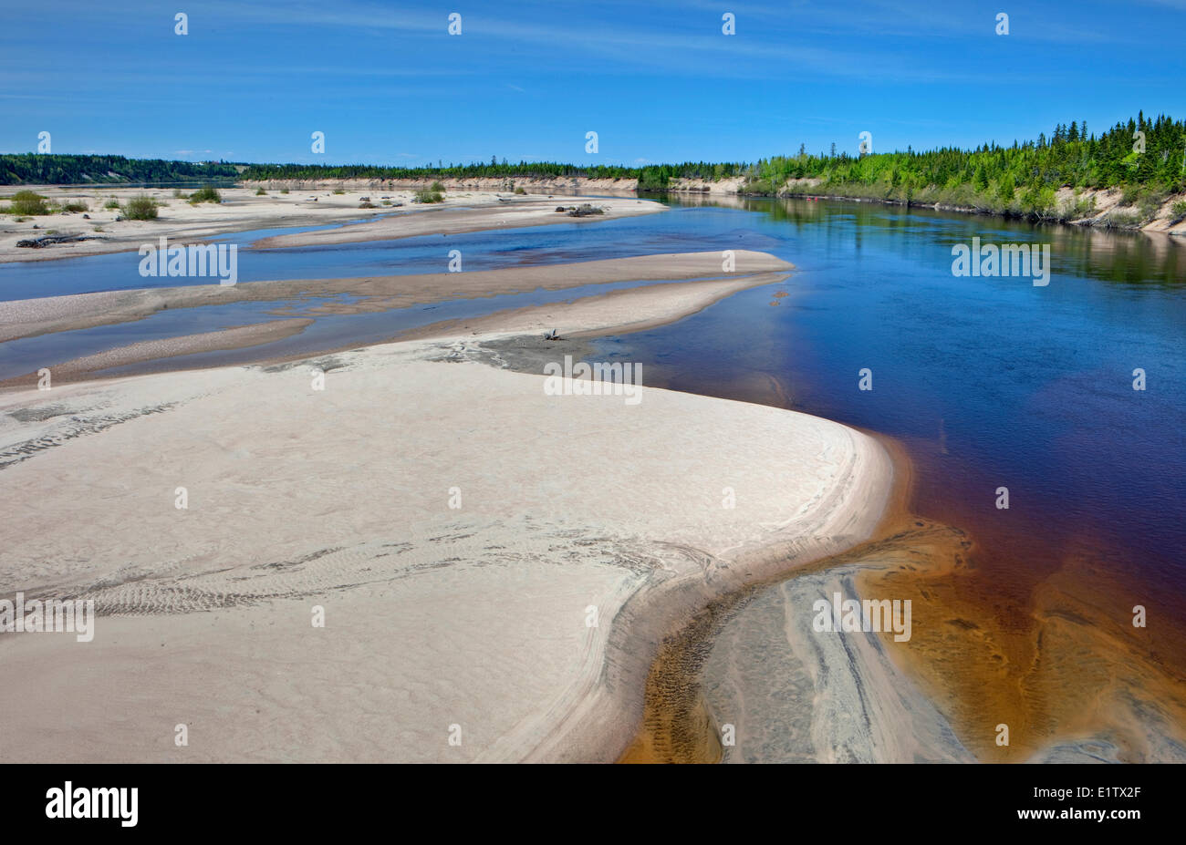 Riviere Pentecoste River, Northshore, St Lawrence, Cote Nord, Quebec, Canada - Stock Image