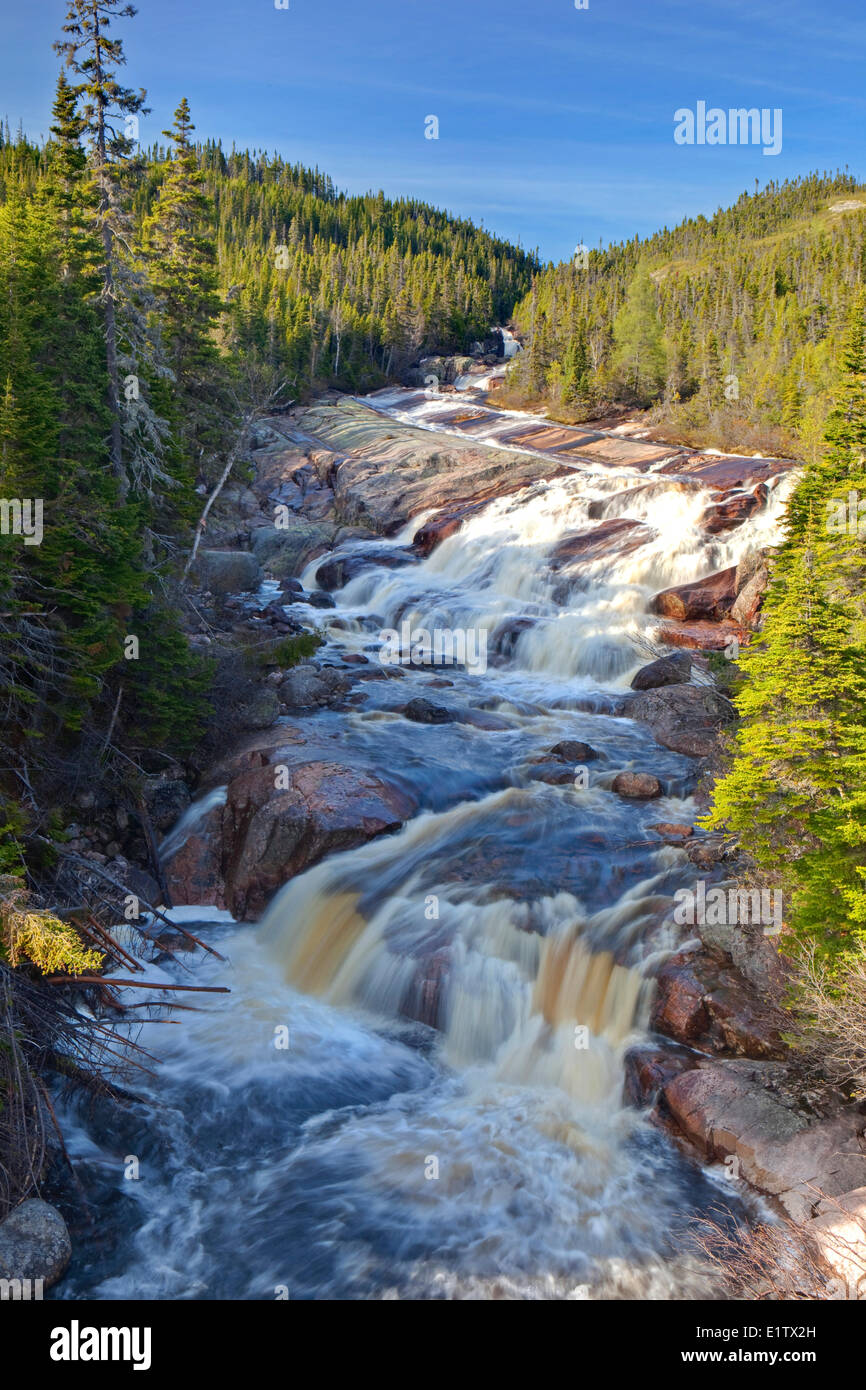 Riviere Du Sault Plat River, Northshore, St Lawrence, Cote Nord, Quebec, Canada - Stock Image