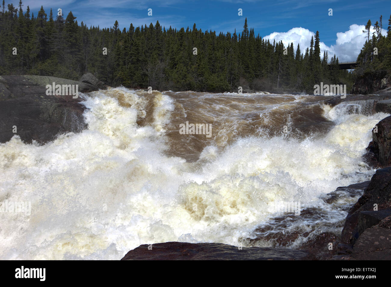 Manitou Falls, Duplessis,  Northshore St Lawrence, Cote Nord, Quebec, Canada - Stock Image