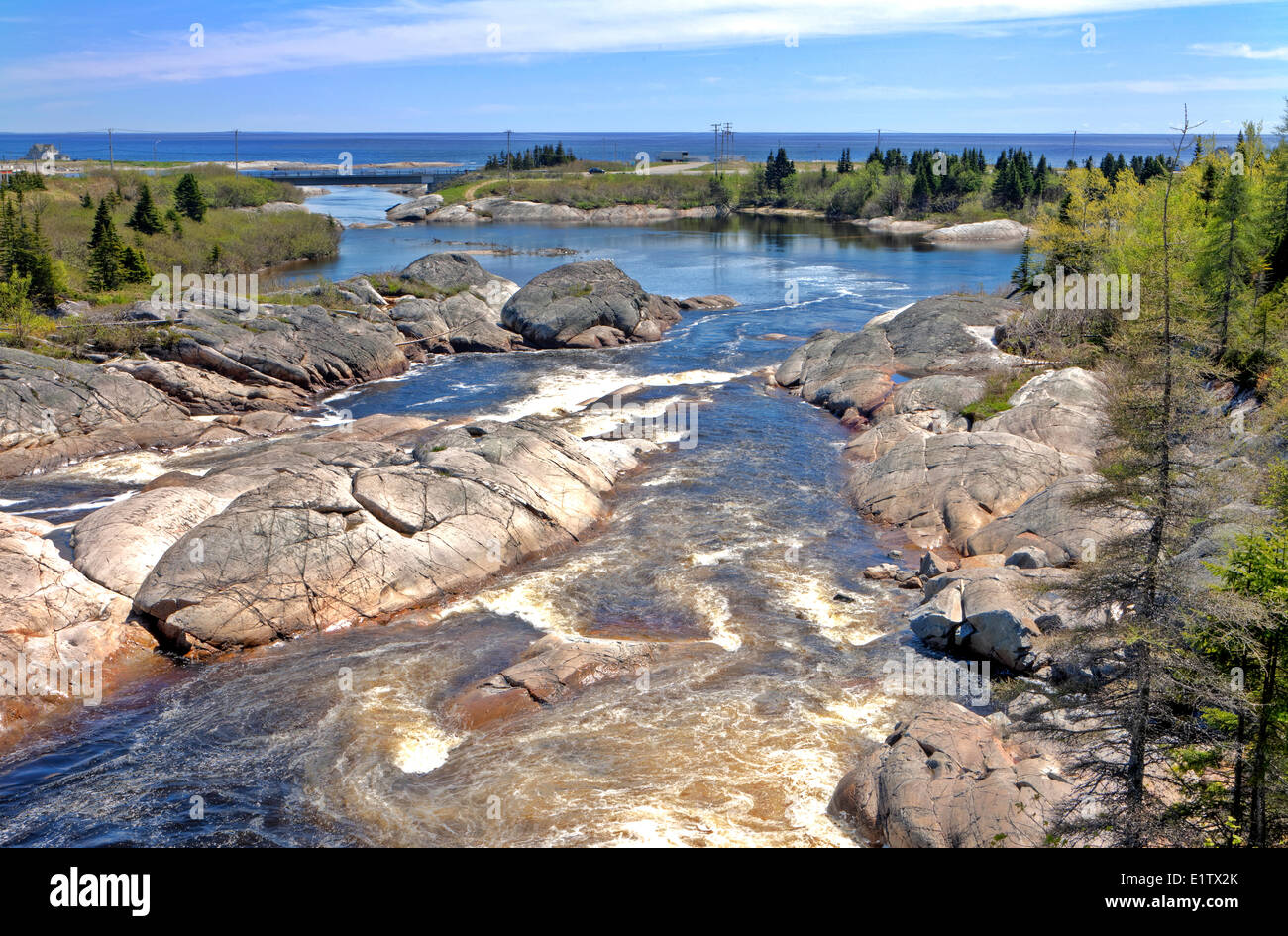 Riviere-au-Tonnierre, Duplessis,  Northshore St Lawrence, Cote Nord, Quebec, Canada - Stock Image