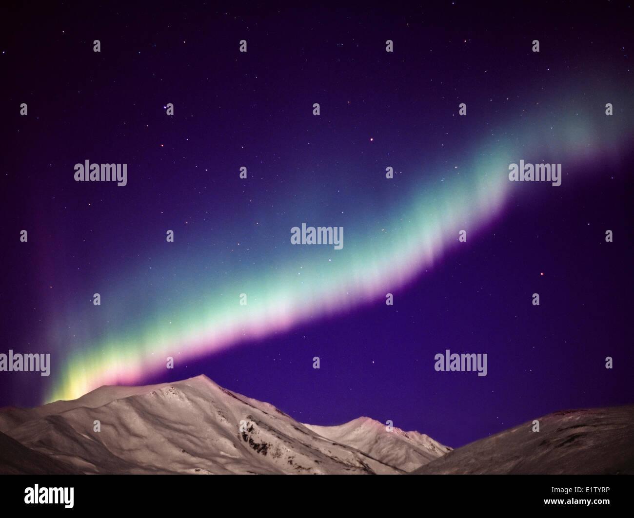 Northamerica-Alaska-Brooks Range Aurora Borealis, Northern Light Brooks Range, - Stock Image