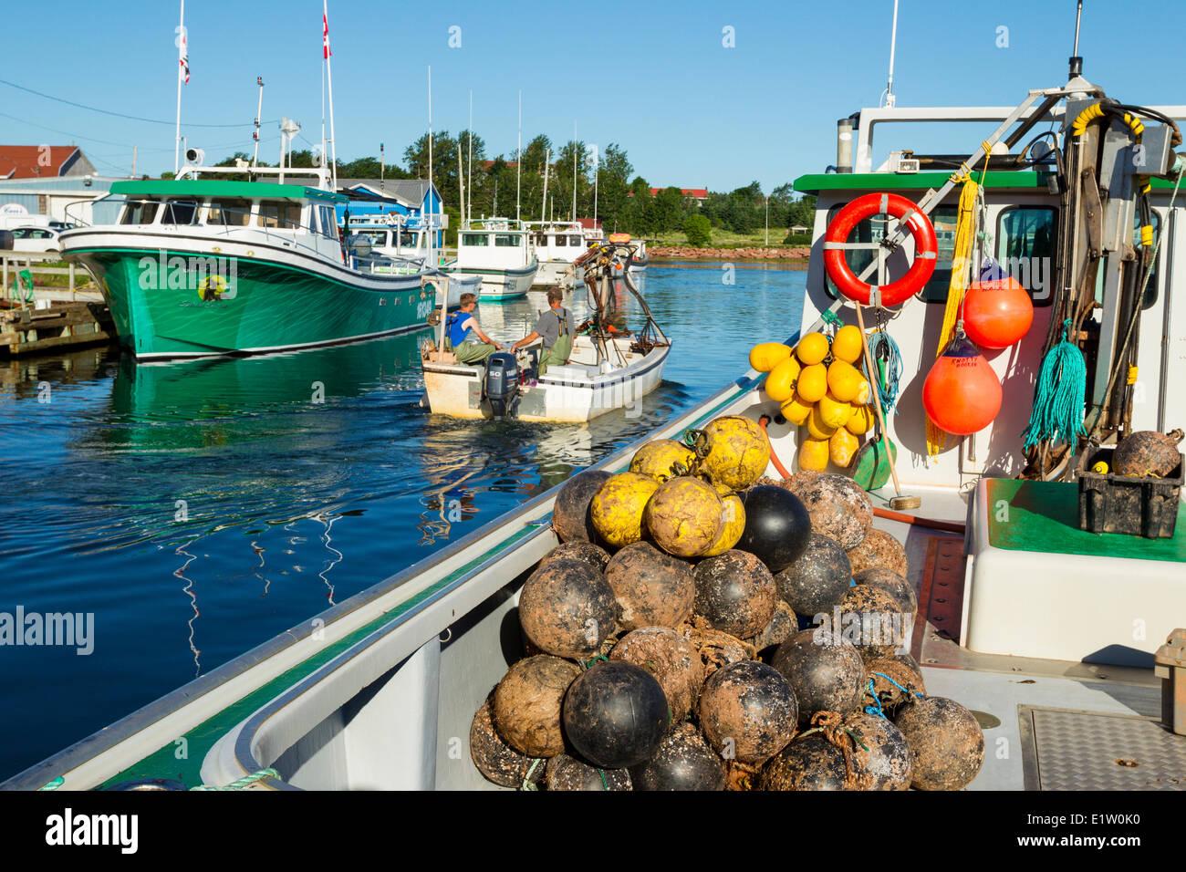 Fishing boats, Stanley Bridge Wharf, Prince Edward Island, Canada - Stock Image
