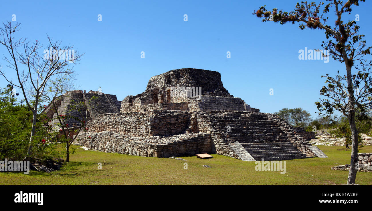 Mexico, Yucatán, Mayapán, the antique mayan city - Stock Image