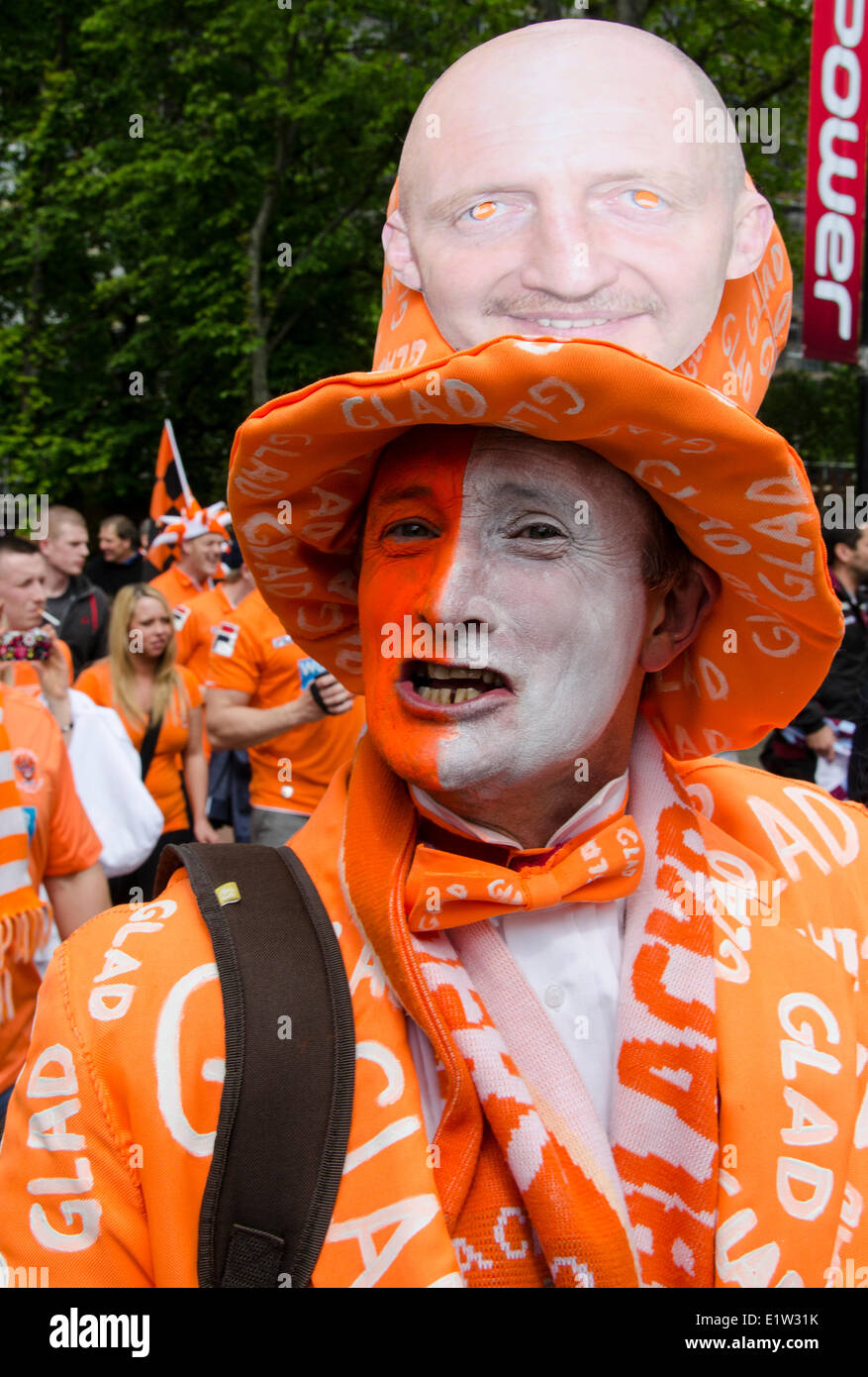 Blackpool FC supporters, Wembley Stadium,  London, England - Stock Image