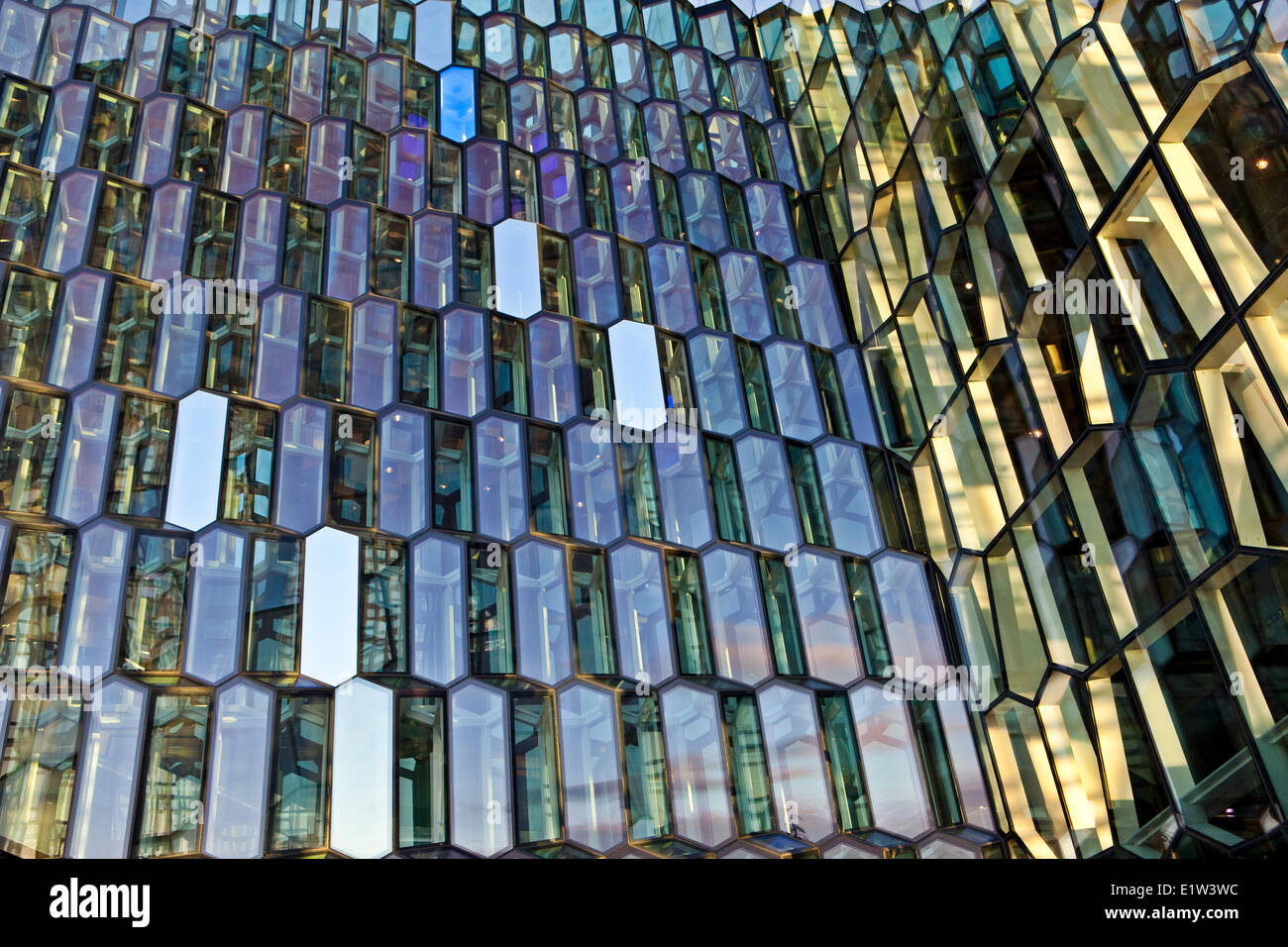 HARPA, the new Concert/Opera/Convention Centre, Reykjavik, Iceland - Stock Image