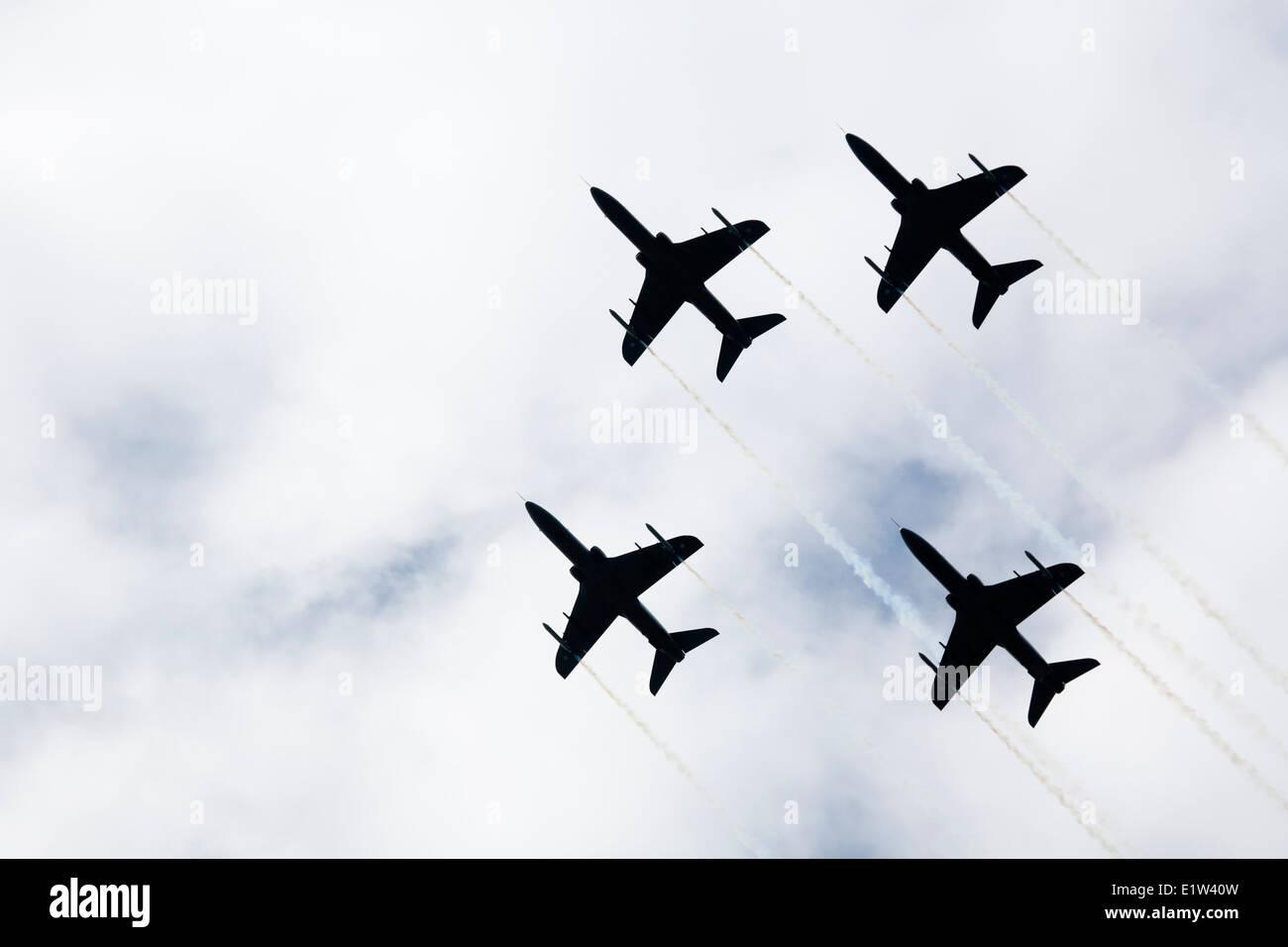 The Finnish Air Force aerobatic team The Midnight Hawks - Stock Image