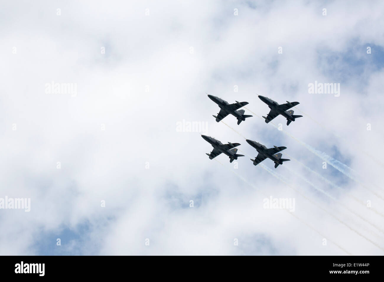 The Finnish Air Force aerobatic team The Midnight Hawks - Stock Image