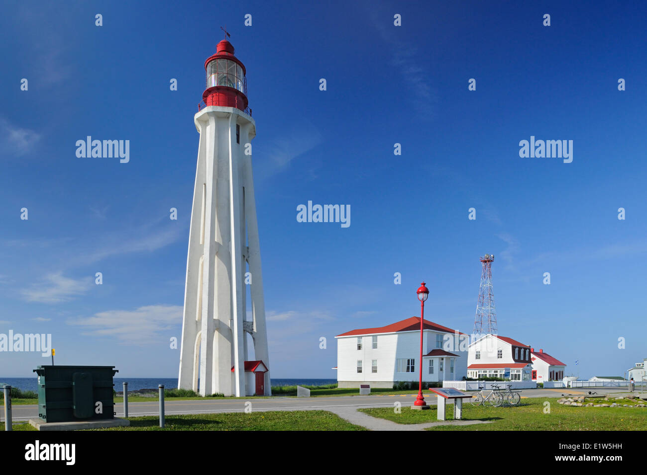 Pointe-au-Père Lighthouse National Historic Site of Canada, Quebec - Stock Image