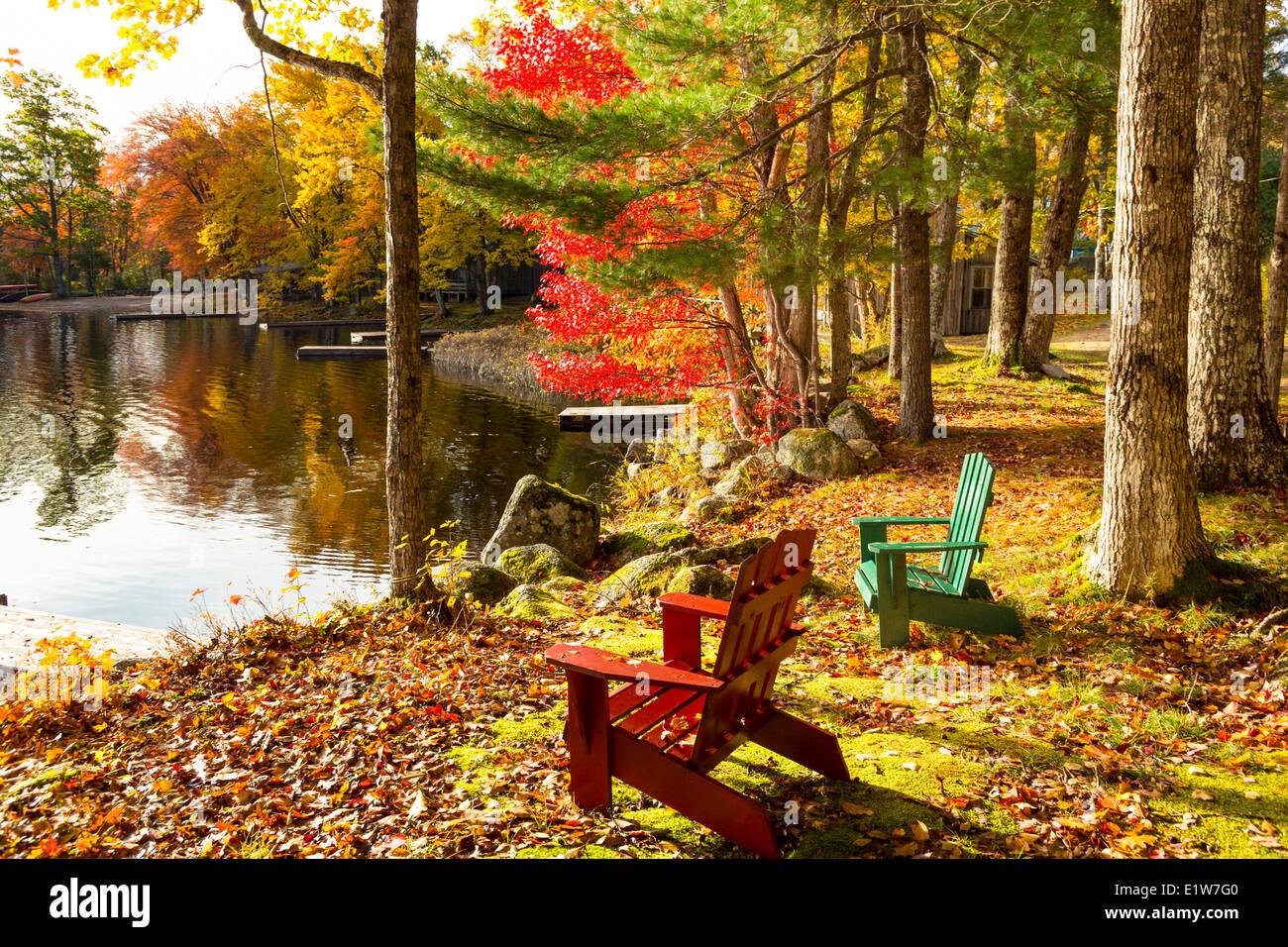 Milford House Cabins, Geier Lake, South Milford, Annapolis County, Nova Scotia, Canada - Stock Image
