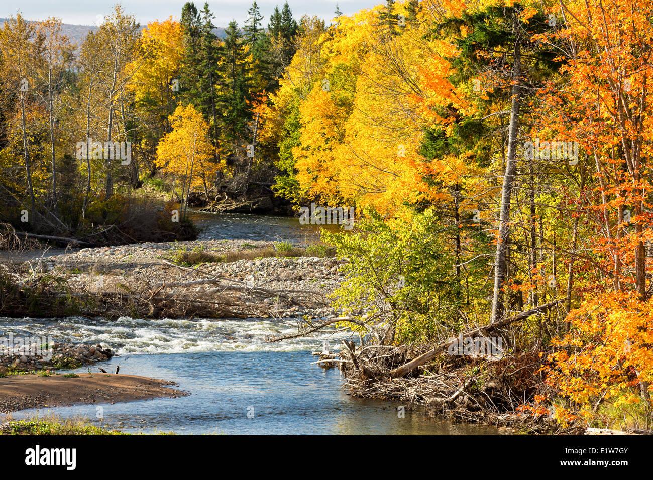 Middle River West, Cape Breton, Nova Scotia, Canada - Stock Image