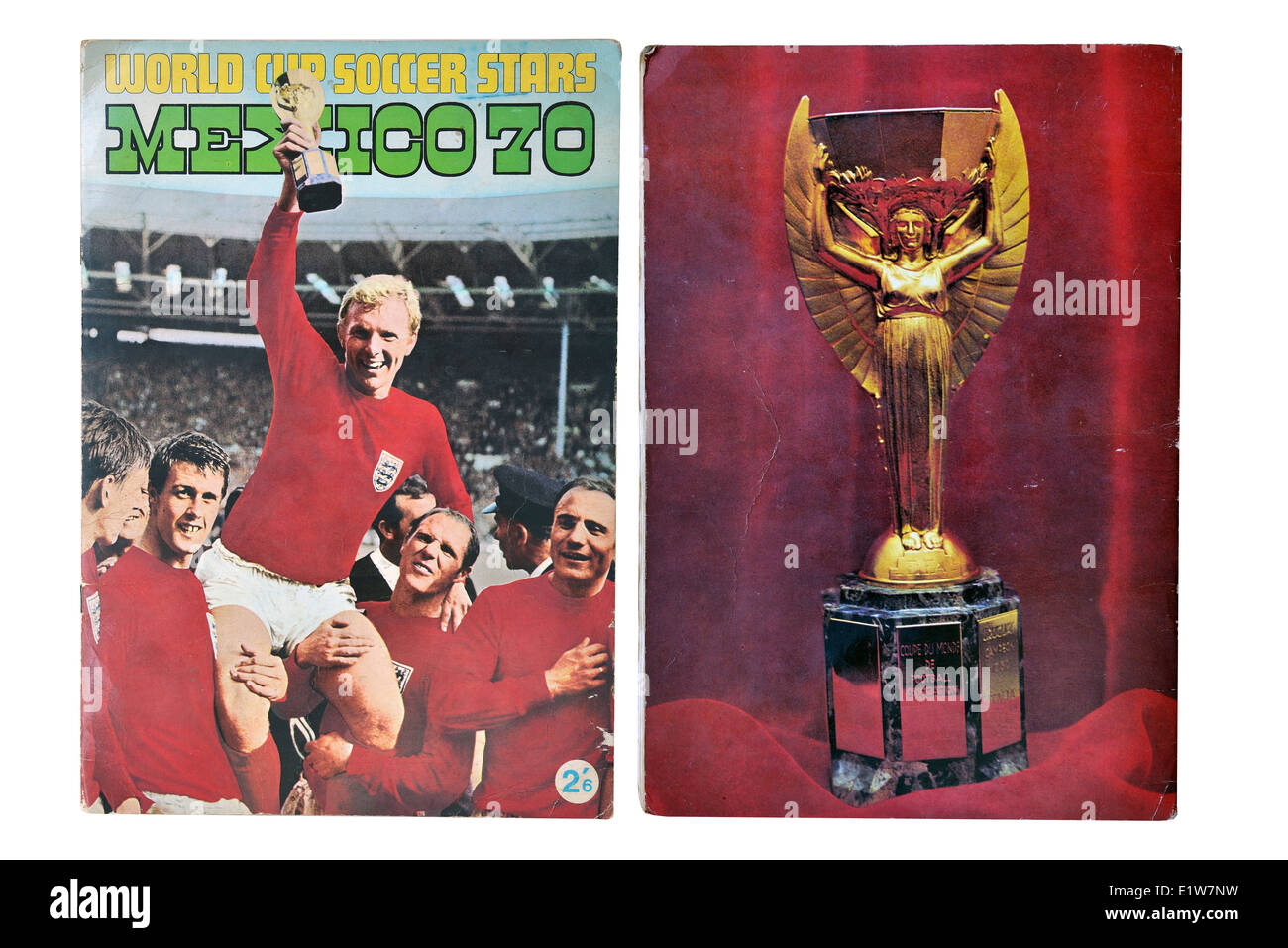 World Cup Mexico 1970 Football soccer player card collection album front cover - Stock Image