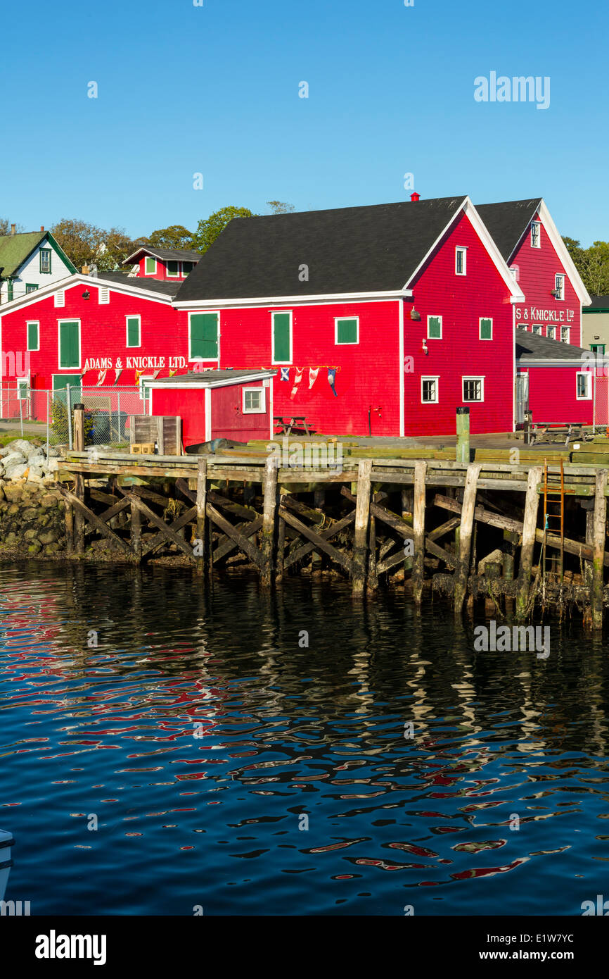 Adams & Knickle LTD, Lunenburg waterfront, Nova Scotia, Canada - Stock Image