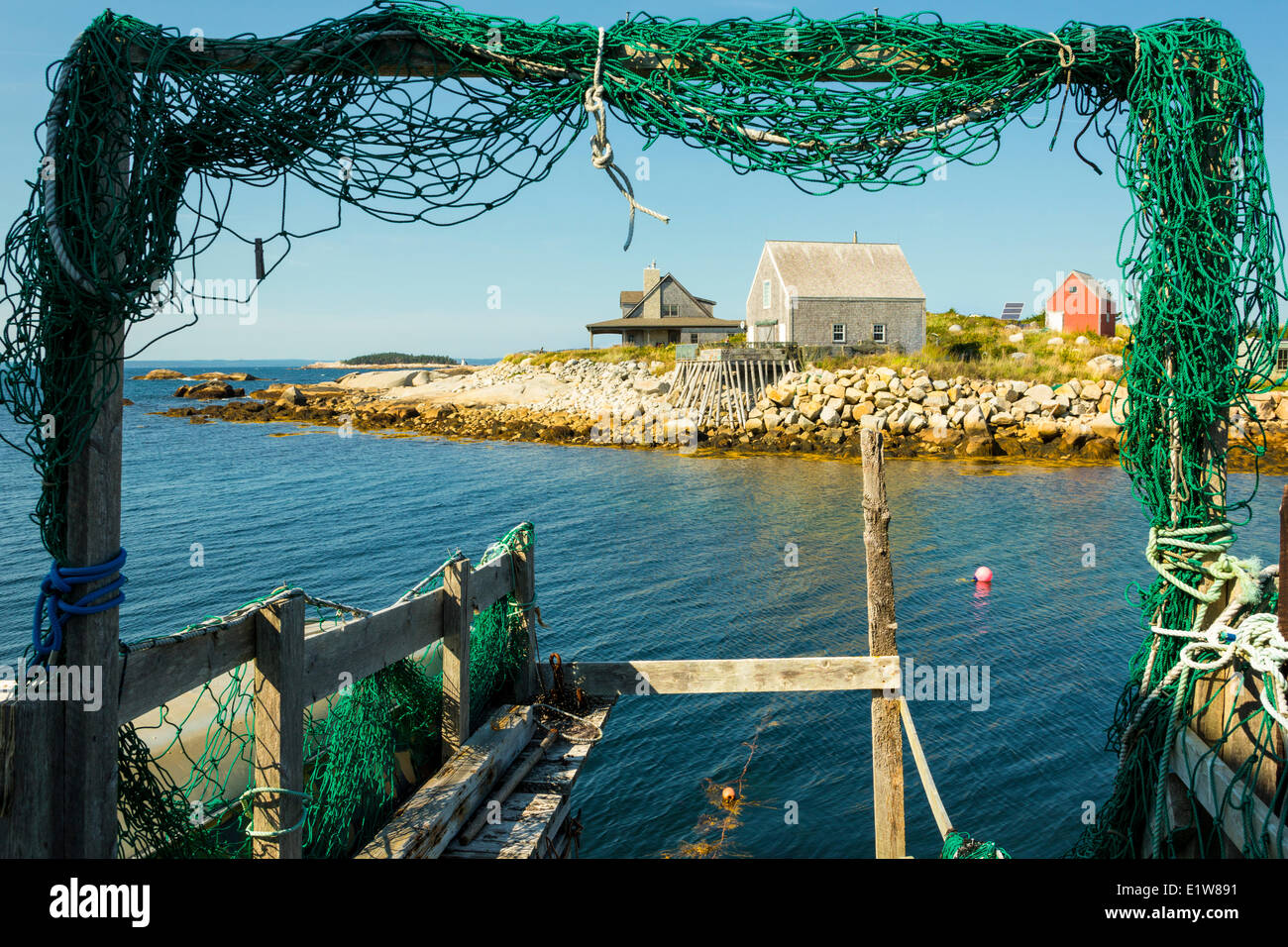 Low tide, Middle Point Cove, Nova Scotia, Canada - Stock Image