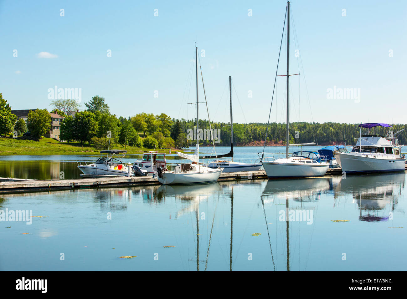 Saliboats docked at Georgetown Marina, Georgetown, Prince Edward Island, Canada - Stock Image