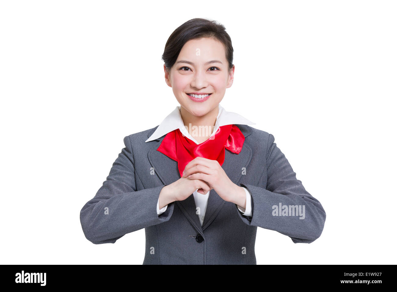 Cheerful businesswoman offering traditional chinese new year cheerful businesswoman offering traditional chinese new year greeting m4hsunfo
