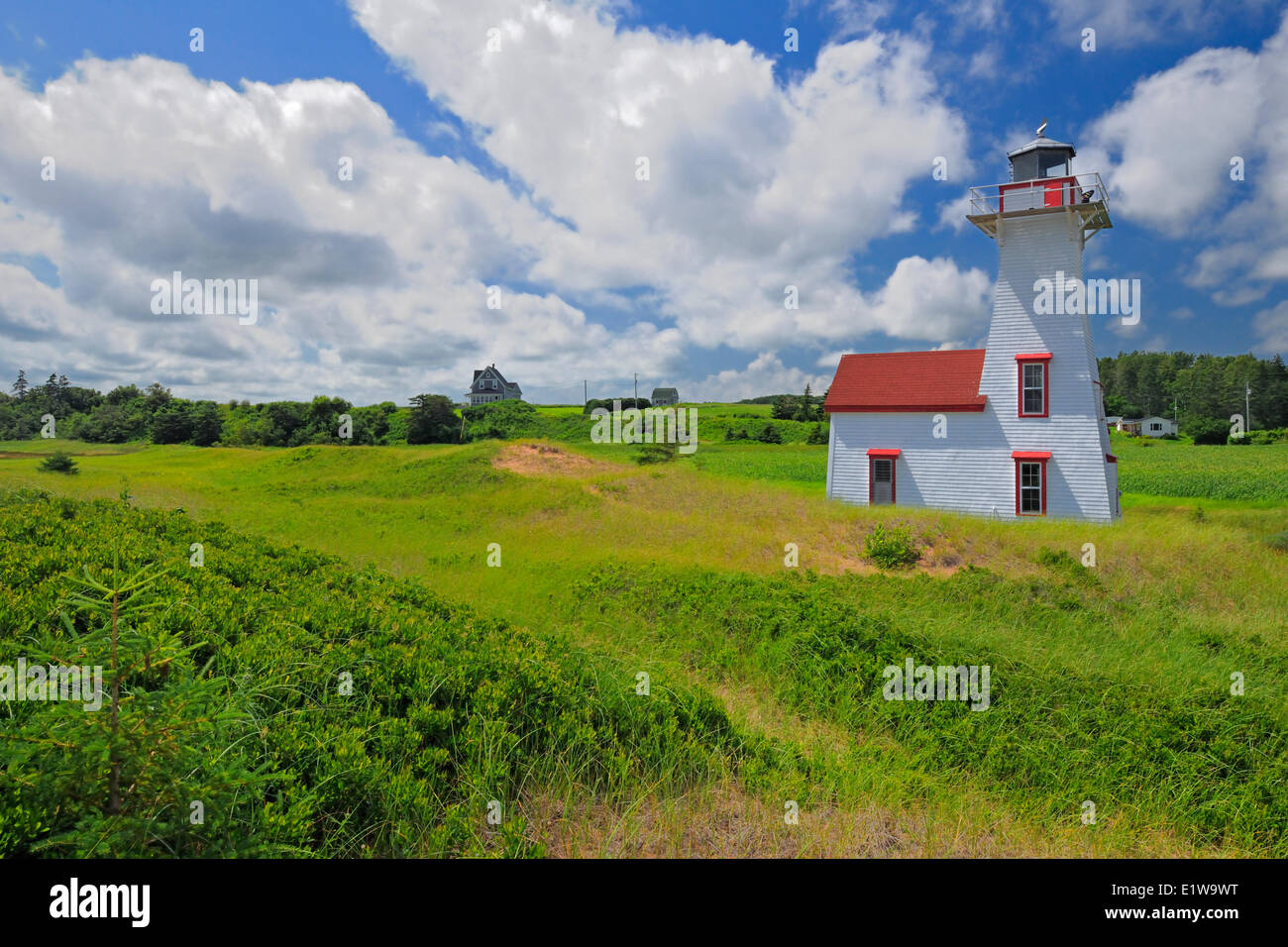 Lighthouse, New London, Prince Edward Island, Canada - Stock Image