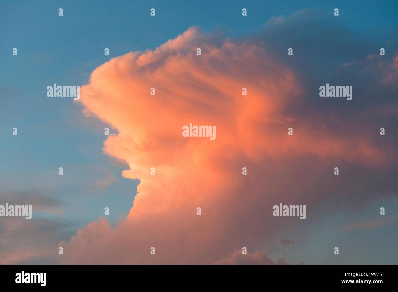 Cumulonimbus clouds, southwest Alberta, Canada. - Stock Image