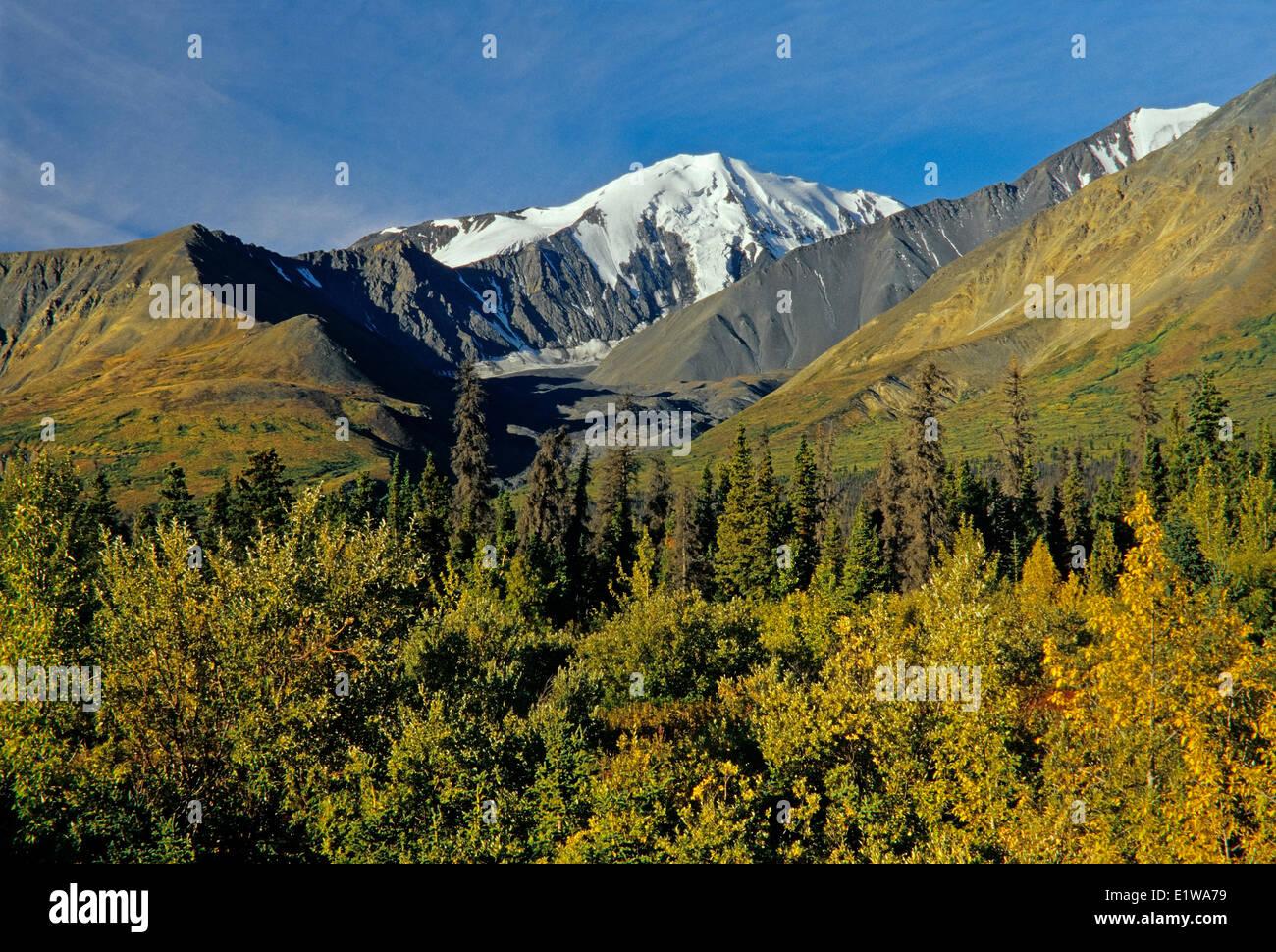 Saint Elias Mountains, Kluane National Park, Yukon, Canada - Stock Image