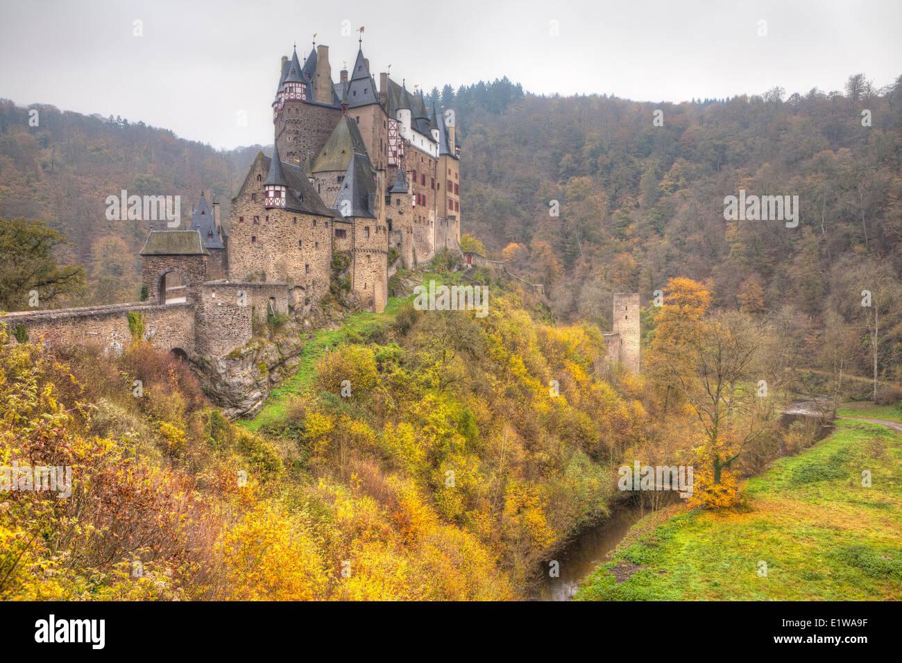 Eltz Castle in Autumn, Rhineland-Pfalz, Germany Stock Photo