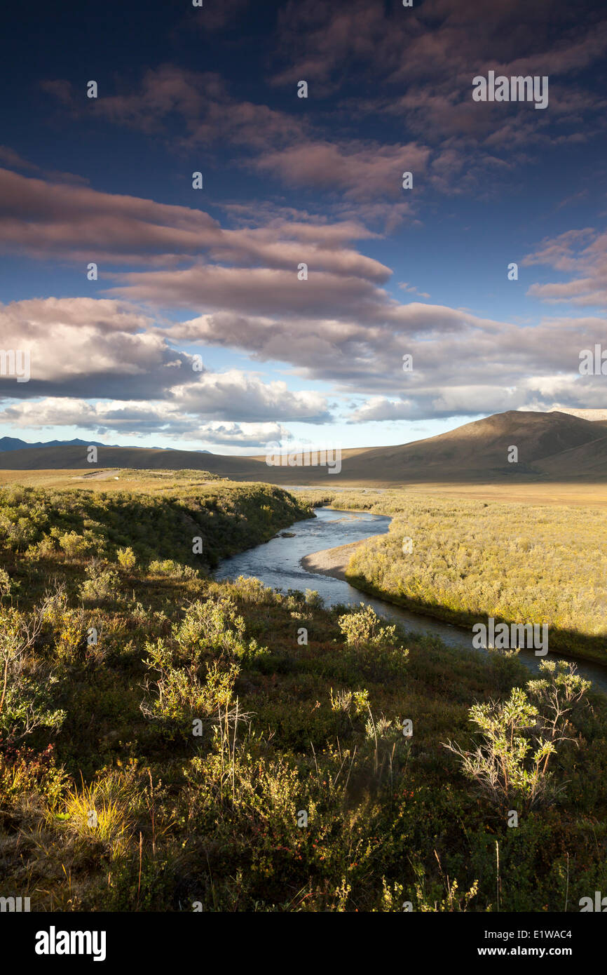 Autumn at the north end of Tombstone Territorial Park in the Yukon, Canada - Stock Image