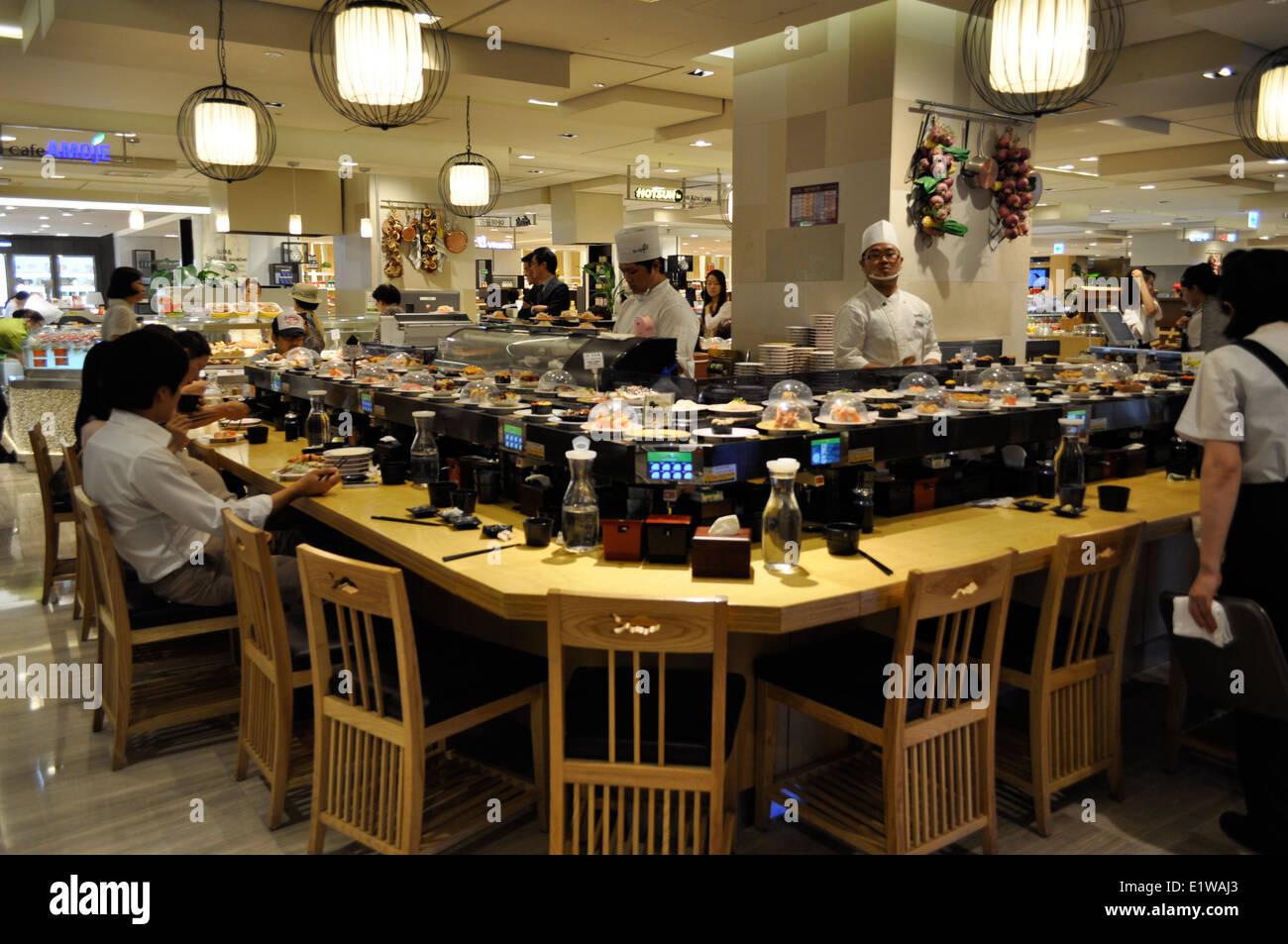 Exported Japanese culture.Sushi Restaurant,Seoul,South Korea. - Stock Image