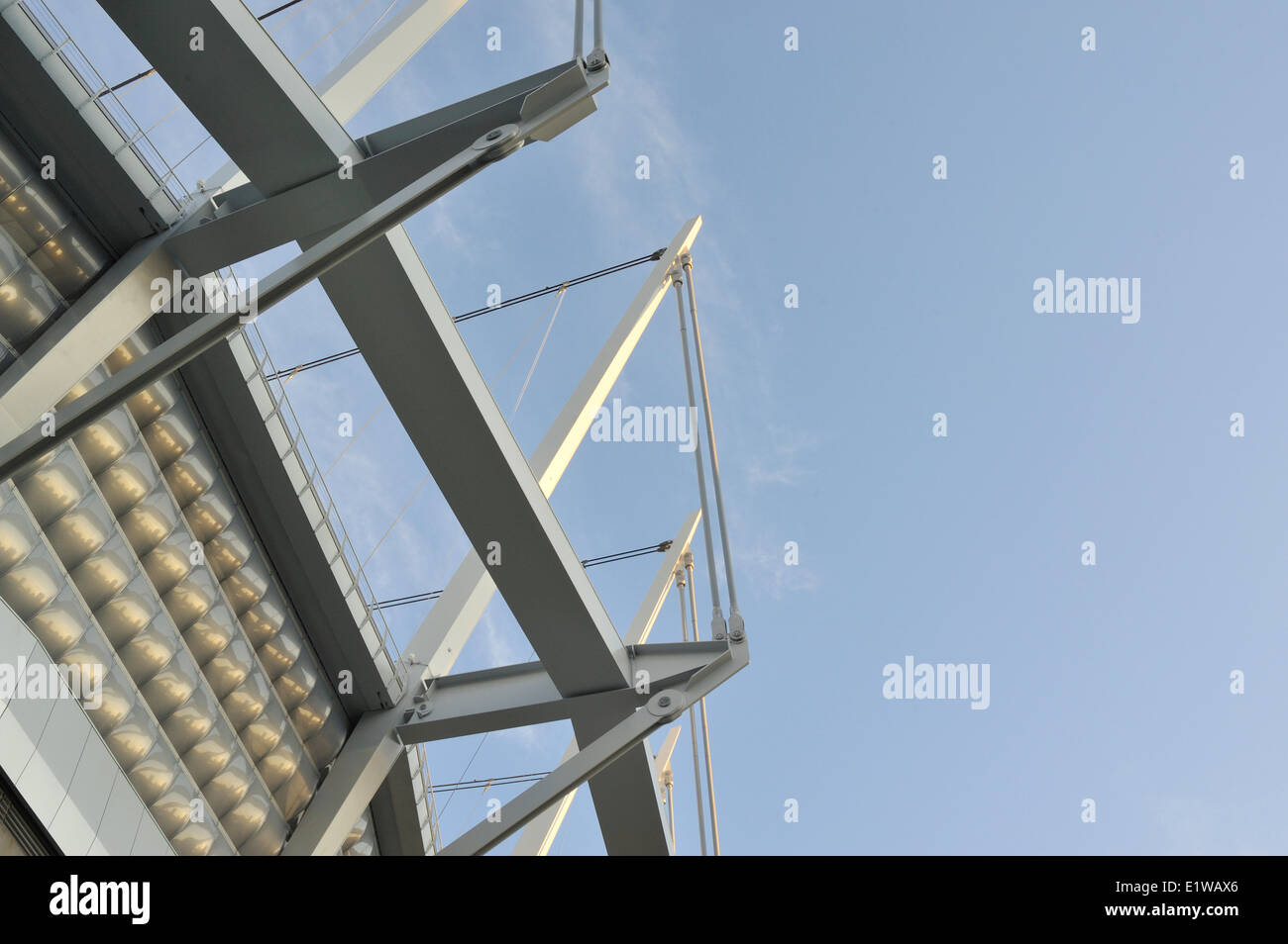 structure of new retractable roof, BC Place Stadium, Vancouver, British Columbia, Canada - Stock Image
