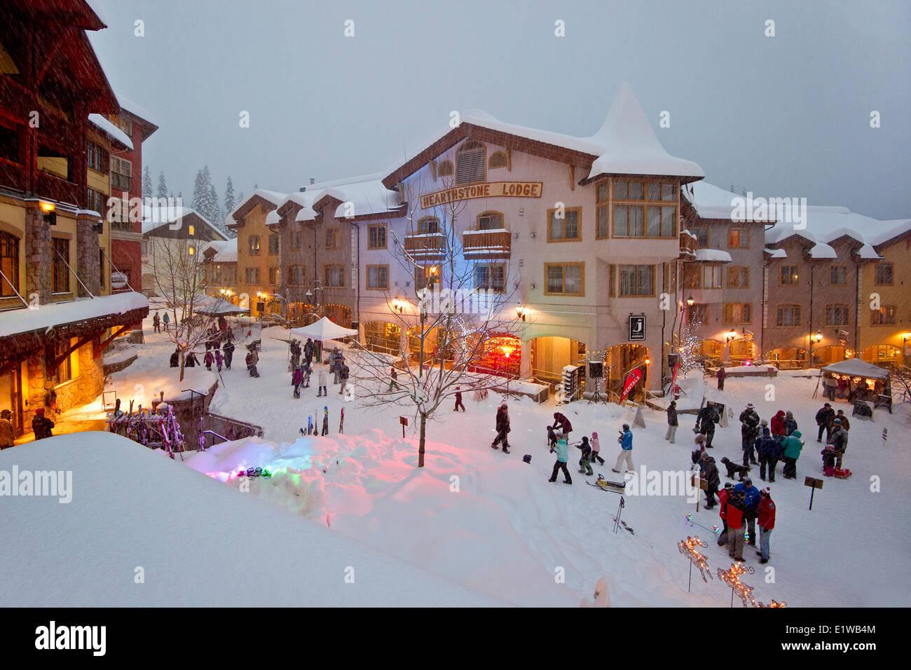 Holiday festivities at Sun Peaks Resort, Sun Peaks, British Columbia, Thompson Okanagan region, Canada. - Stock Image