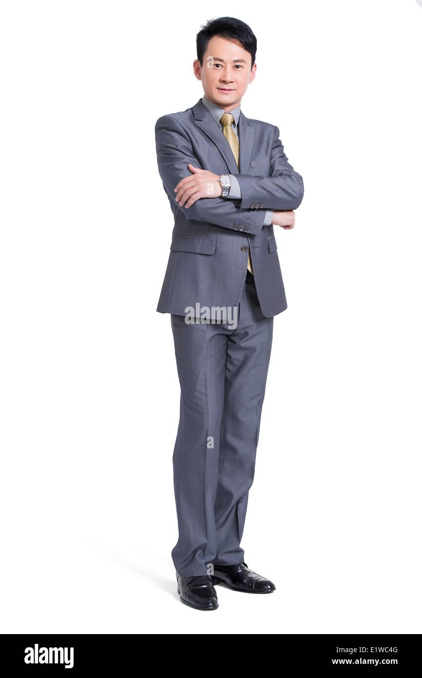 Confident businessman - Stock Image