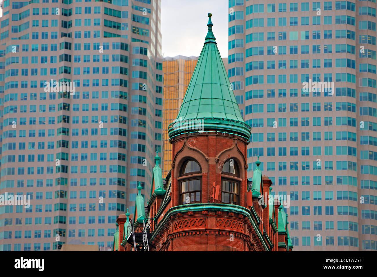 Gooderham Building (Flatiron Building) in downtown Toronto City, Ontario, Canada. - Stock Image